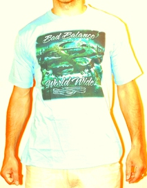Т-shirt - Bad Balance - World Wide Blue